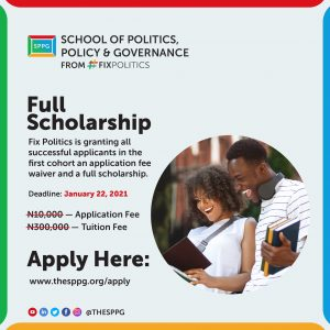 School of Politics, Policy and Governance – full scholarship